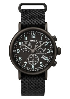 Timex® Standard Chronograph Textile Strap Watch, 41mm