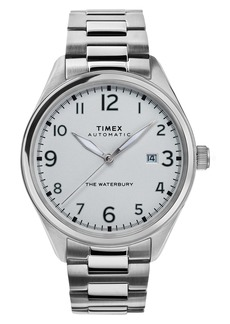 Timex® Waterbury Automatic Bracelet Watch, 42mm