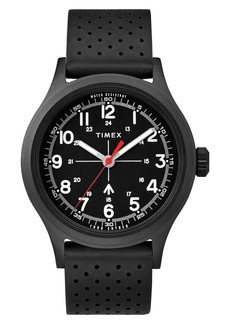 Timex® x Todd Snyder The Military Leather Strap Watch, 40mm