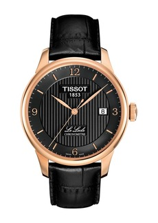 Tissot Men's Le Locle Automatic Leather Strap Watch, 39mm