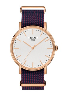 Tissot Men's Everytime Nylon Strap Watch, 38mm
