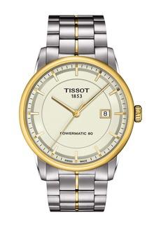 Tissot Men's Luxury Powermatic 80 Two-Tone Bracelet Watch, 41mm