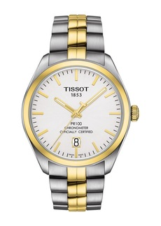 Tissot Men's PR 100 Powermatic 80 COSC Bracelet Watch, 39mm