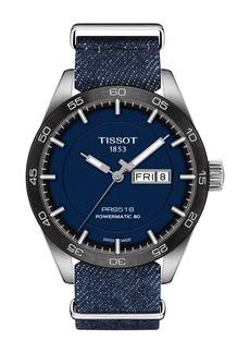 Tissot Men's PRS516 Powermatic Textile Strap Watch, 42mm