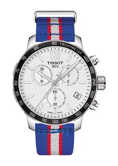 Tissot Men's Quickster Chronograph NBA Detroit Pistons Watch, 42mm