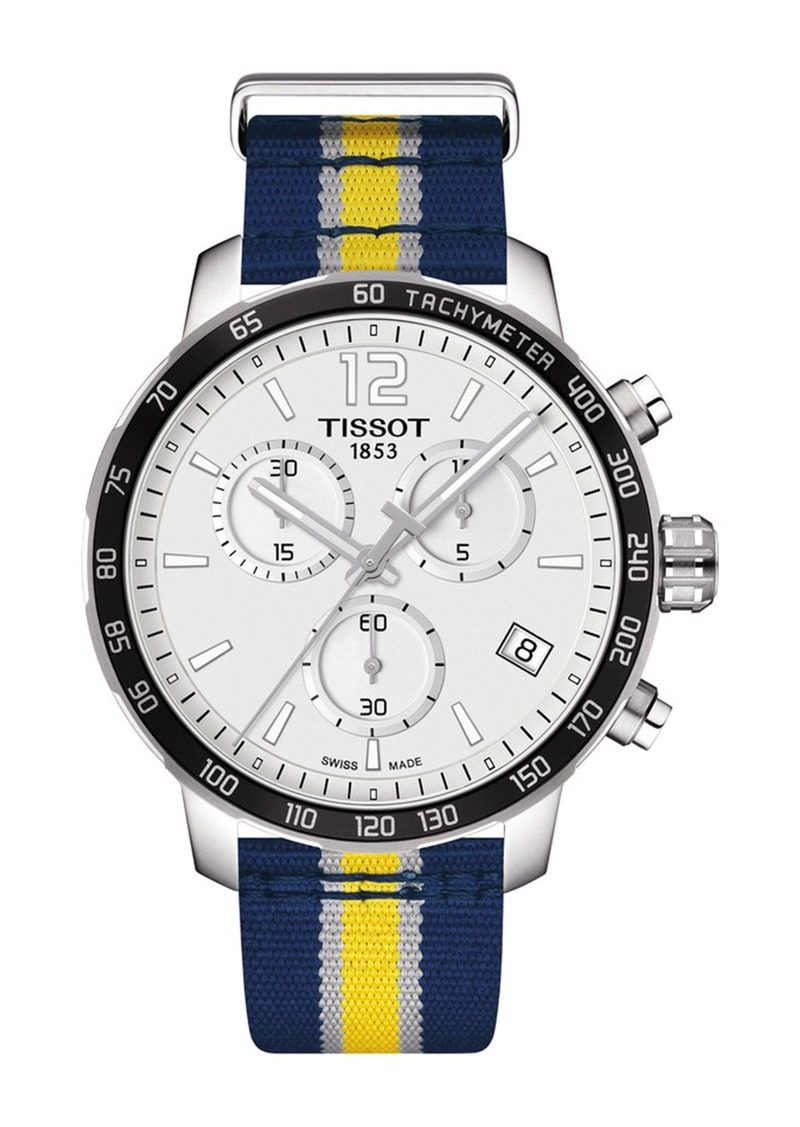 Tissot Men's Quickster Chronograph NBA Indiana Pacers Watch, 42mm