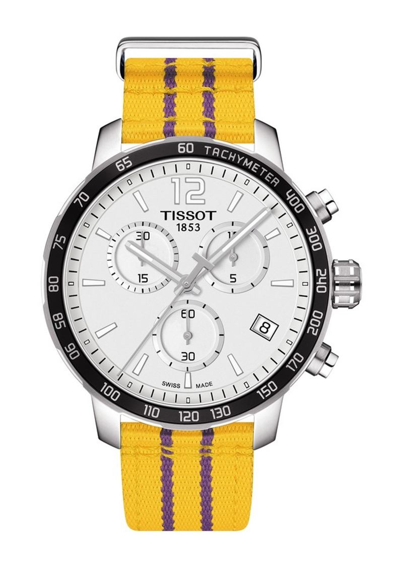 Tissot Men's Quickster Chronograph NBA Los Angeles Lakers Watch, 42mm
