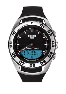 Tissot Men's Sailing-Touch Swiss Rubber Strap Watch, 45mm