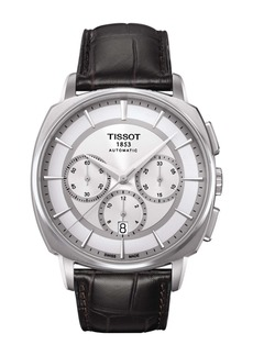 Tissot Men's T-Lord Automatic Embossed Leather Strap Watch, 42.2mm