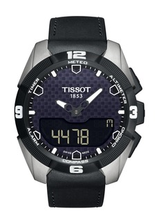 Tissot Men's T-Touch Solar Leather Strap Watch, 43mm