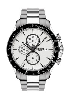 Tissot Men's V8 Automatic Chronograph Bracelet Watch, 45mm