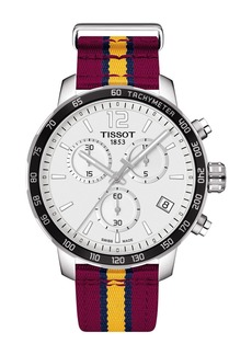 Tissot Men's Quikster NBA Chronograph NATO Strap Watch, 42mm