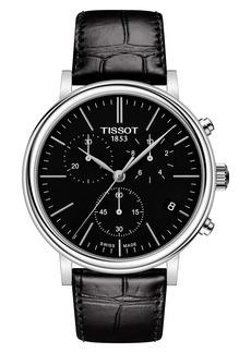Tissot Carson Premium Chronograph Leather Strap Watch, 41mm