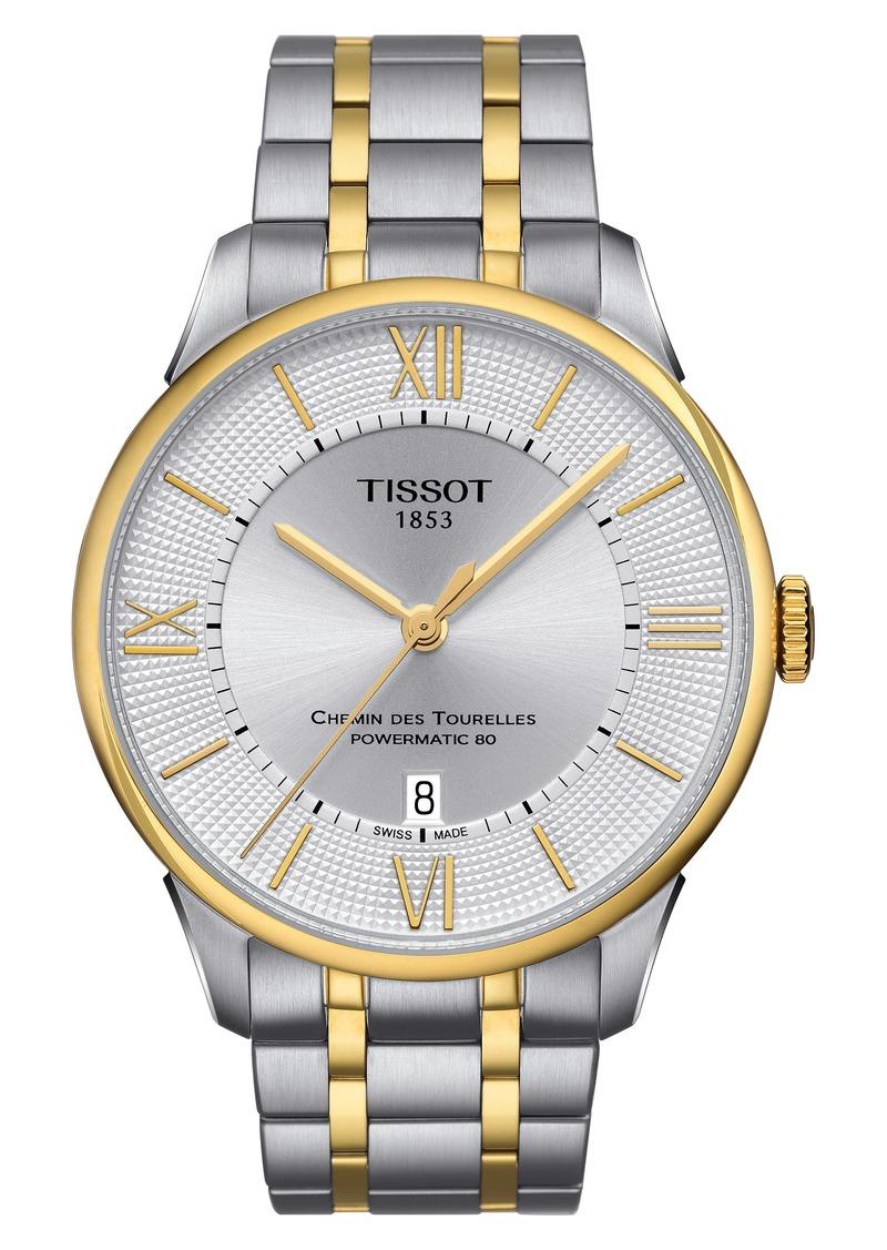 Tissot Chemin Des Tourelles Automatic Bracelet Watch, 42mm