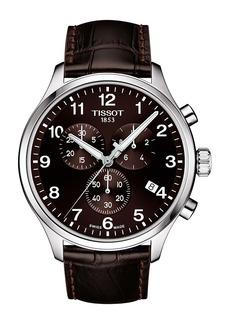 Tissot Chronograph XL Leather Strap Watch, 45mm