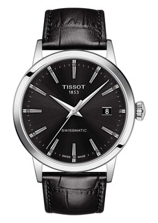 Tissot Classic Dream Automatic Leather Strap Watch, 42mm