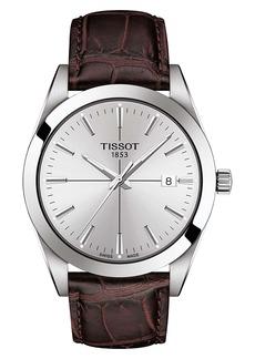 Tissot Gentleman Leather Strap Watch, 40mm