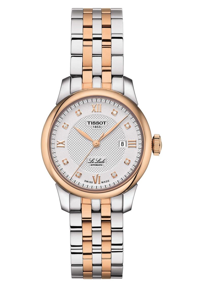 Tissot Le Locle Automatic Diamond Bracelet Watch, 29mm