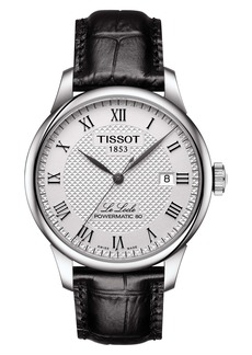 Tissot Le Locle Powermatic 80 Automatic Leather Strap Watch, 39mm