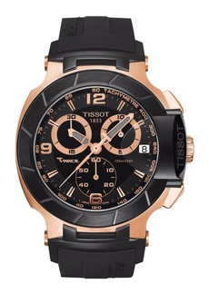 Tissot Mens T-Race Black Quartz Chronograph Rubber Strap Watch
