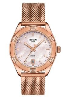 Tissot PR 100 Sport Chic Mesh Bracelet Watch, 36mm