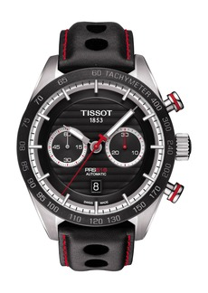Tissot PRS516 Automatic Chronograph Leather Strap Watch, 45mm