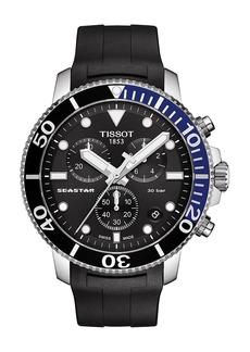 Tissot Seastar 1000 Chronograph Rubber Strap Watch, 45.5mm