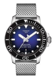 Tissot Seastar 1000 Powermatic 80 Mesh Bracelet Watch, 43mm