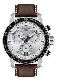 Tissot Supersport Chronograph Leather Strap Watch, 45.5mm
