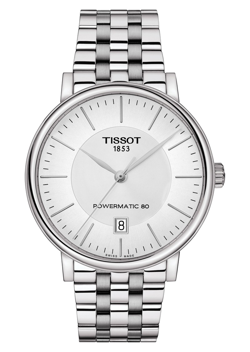 Tissot T-Classic Carson Powermatic Bracelet Watch, 40mm