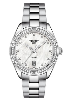Tissot T-Classic PR 100 SE Bracelet Watch, 36mm