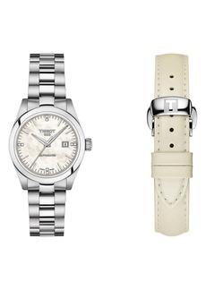 Tissot T-My Automatic Bracelet Watch & Leather Strap Gift Set, 29.3mm
