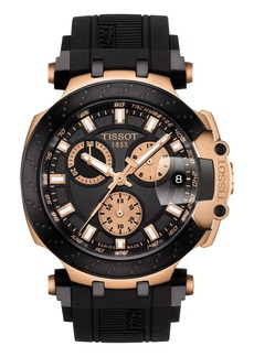 Tissot T-Race Chronograph Silicone Strap Watch, 48mm