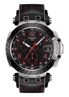 Tissot T-Race T-Race Marc Márquez Limited Edition Chronograph Leather Strap Watch, 43mm