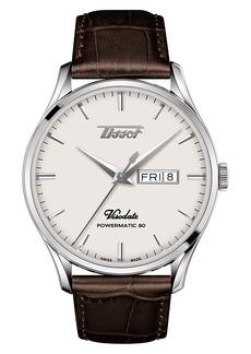 Tissot Visodate Automatic Leather Strap Watch, 42mm