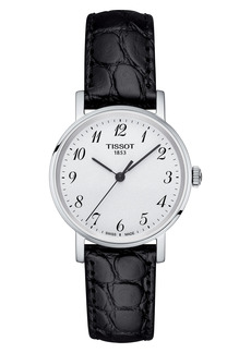 Women's Tissot Everytime Leather Strap Watch