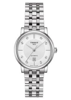Women's Tissot T-Classic Carson Diamond Bracelet Watch
