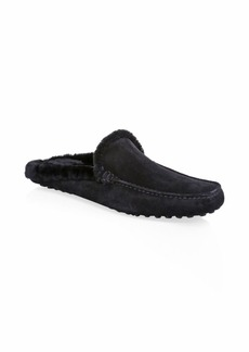 To Boot Alpes Shearling-Lined Suede Slippers