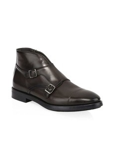 To Boot Basel Double Monk-Strap Leather Ankle Boots
