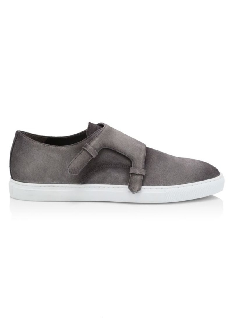 To Boot Battery Suede Monk-Strap Sneakers