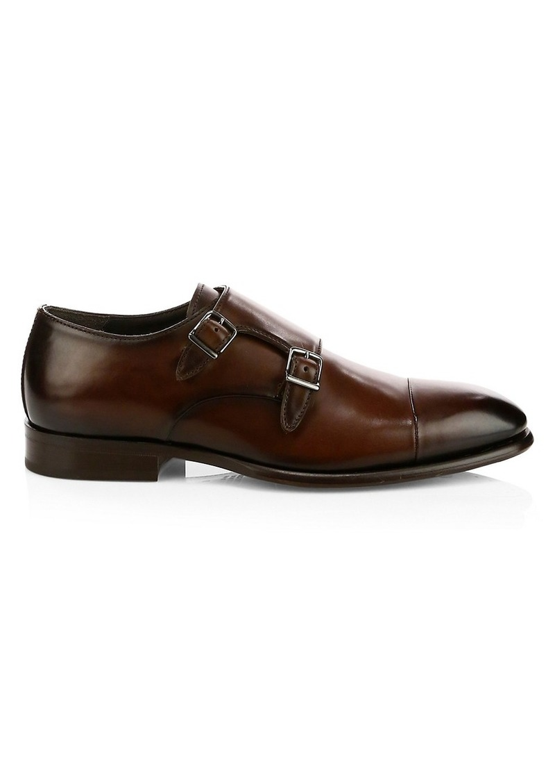 To Boot Capo Leather Double Monk Strap Loafers