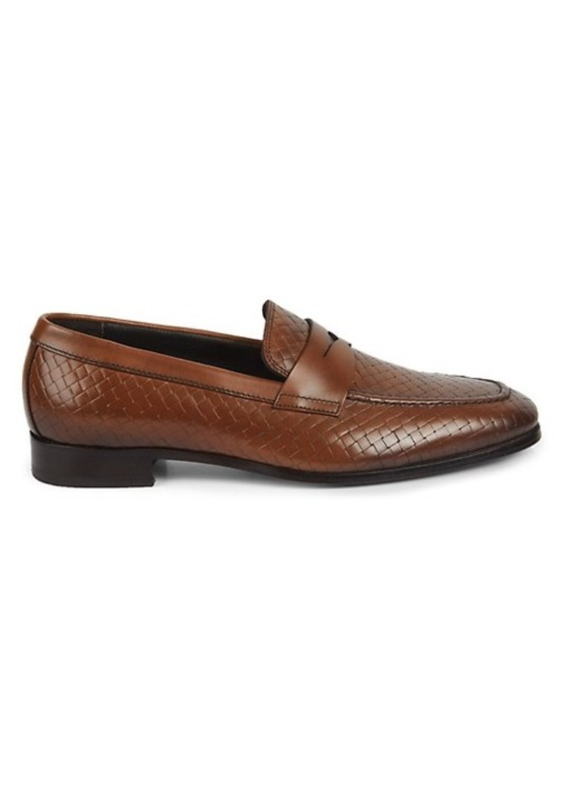To Boot Dante Woven Leather Loafers