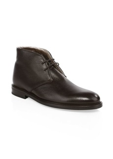 To Boot Fritz Shearling & Leather Lace-Up Chukka Boots