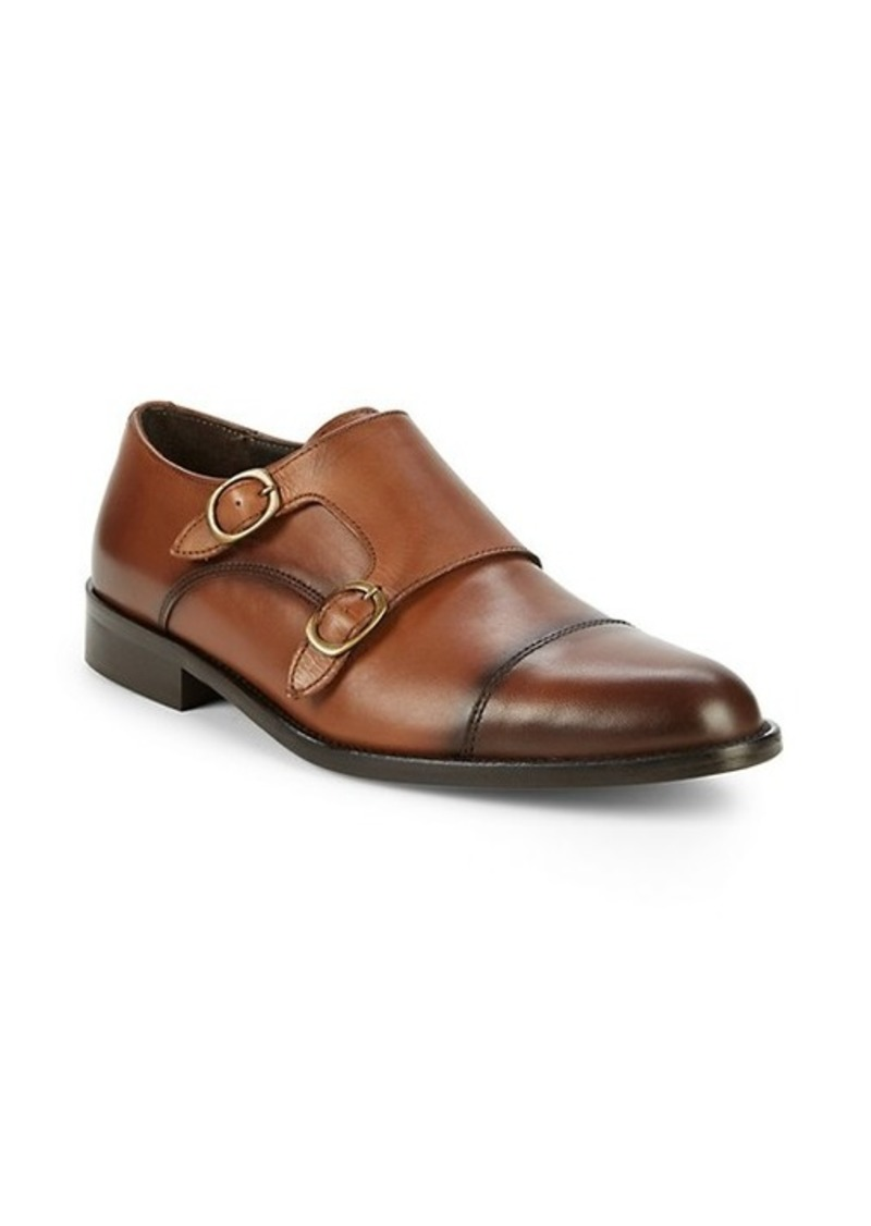 To Boot Goddrey Leather Double Monk-Strap Loafers