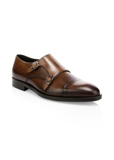 To Boot Leather Double Monk Strap Shoes