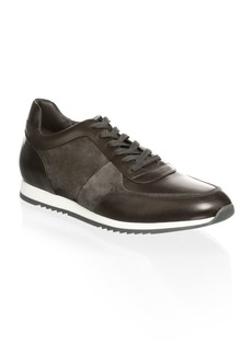 To Boot Lenox Mixed Media Trainer Leather Sneakers