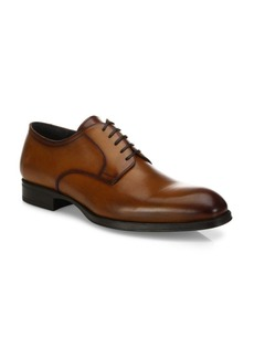 To Boot Burnished Toe Leather Oxfords