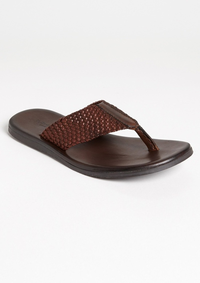 To Boot New York 'Cadiz' Braided Leather Flip Flop