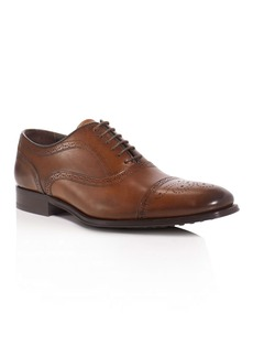 To Boot New York David Leather Medallion Cap Toe Oxfords