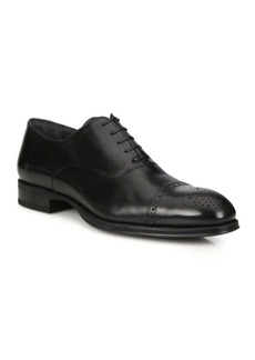 To Boot Medallion Leather Cap Toe Oxfords